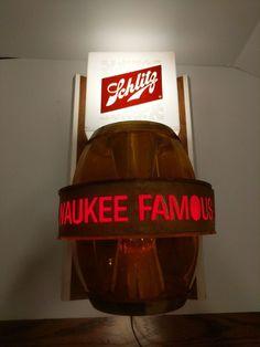 No reserve. Works and displays excellent. Schlitz Beer, Sign Lighting, Beer Signs, Popcorn Maker, Barrel, Wall Lights, Vintage, Ebay, Appliques