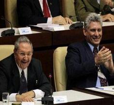 Raúl Castro y Miguel Díaz-Canel, primer vicepresidente del Consejo de Estado