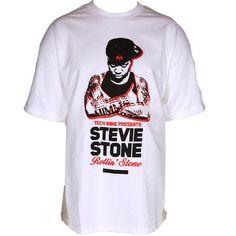 Stevie Stone - White Rollin' Stone Presale T-Shirt - $10!