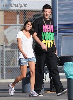 """Cory Allan Monteith and Lea Michele/ 人気TVドラマ『glee』のナイスカップル""""レイチェルとフィン""""、私生活でも交際スタート。"""