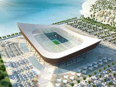 Progetto dello stadio Al-Shamal in Qatar