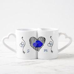 Modern 45th Wedding Anniversary Couple MUGS Custom - anniversary cyo diy gift idea presents party celebration