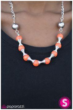 Spring to Mind necklace - Orange