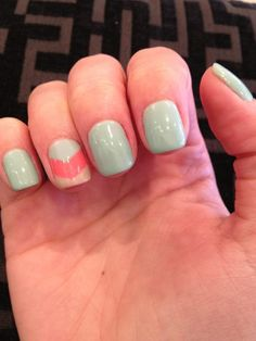 Loving my manicure!  Chevron gel manicure {Posh Nails :: Dallas, TX}