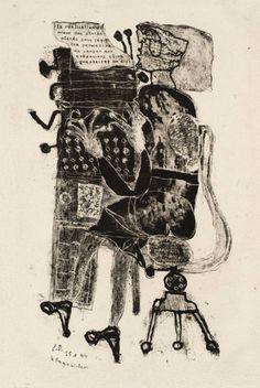 """Jean Dubuffet: """"Typist"""" (1944)."""