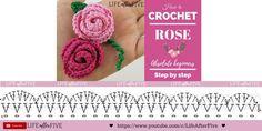 Crochet Motif, Crochet Flowers, Origami, Cute Rose, Crochet Accessories, Hair Pins, Crochet Projects, Diy And Crafts, Crochet Necklace