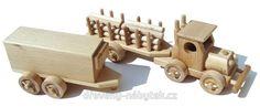 Dřevěný tahač s přívěsy 2 - 614415076 | Dřevěný-nábytek.cz