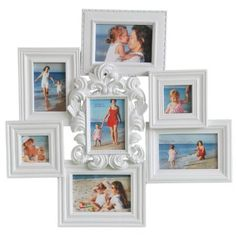 Amazon.com: 7 Opening Wall Collage Photo Picture Frame - XSJ370 ADECO - Wall Art, Modern Stylish Molded Frame,Holds 6x4 5.5x4 3x3 3.5x5 inches Photos Great Gift,Wooden,White: Home & Kitchen