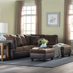 Darby Home Co Beldale Symmetrical Leather Sectional Large Sectional, Reclining Sectional, Sectional Sofa, Chesterfield Sofa, Living Room Furniture, Home Furniture, Breakfast Nook Dining Set, Leather Sectional, Modular Sofa