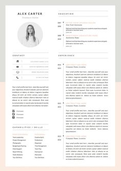 Modern Resume Template & Cover Letter Icon Set por OddBitsStudio If you like this design. Check others on my CV template board :) Thanks for sharing! Resume Layout, Resume Format, Resume Cv, Resume Tips, Resume Ideas, Cv Ideas, Free Resume, Resume Writing, Resume Review