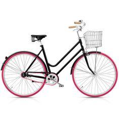 Norrsken Bike: Love the pink wheels!
