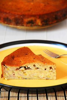 Amazing cake with bananas and sugar free condensed milk. It tastes great and looks very… interesting :) Sugar Free Condensed Milk, Sweet Desserts, Stevia, Amazing Cakes, My Recipes, Cheesecake, Diet, Fruit, Pastries