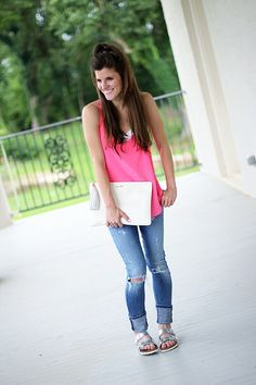 Outfit Post: Hot Pink and Birks