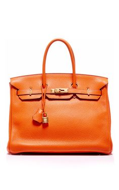 Hermes 35cm orange h clemence leather birkin by HERITAGE AUCTIONS SPECIAL COLLECTION for Preorder on Moda Operandi