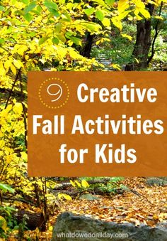 EASY and fun fall activity ideas for kids.