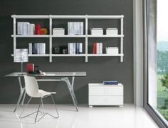 Home Office Wall Mounted Shelves