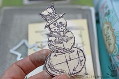 Die-Cember™ Snowman Tag Tutorial by Tammy Tutterow for the Simon Says Stamp Blog.  Die-Cember 2013