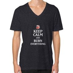 Burn Everything V-Neck (on man) Shirt