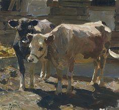 Otto Dill - Two Cows (Zwei Kühe) [1910] | von Gandalf's Gallery