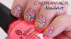 Simpele Carnavals NailArt ~ ook voor korte nagels!