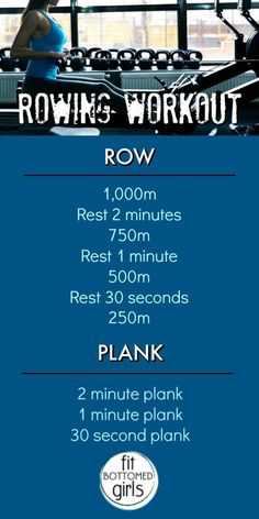 Row, row, row your body fit with this workout! Rowing can be a challenge, but we think you're up for it!
