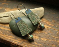 Pueblo earrings by kmaylward on Etsy, $28.00
