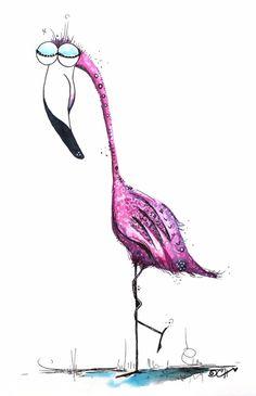 #Flamingo #Kunst: Der Flamingo als Symbol für Gelassenheit, Ruhe und die LIEBE! <3