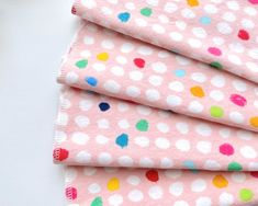Set of 4  12 Single Ply Flannel Cloth Napkins Watercolor Floral Print