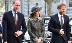 Kate Middleton, Prince William and Prince Harry join Queen Elizabeth at Westminster Abbey
