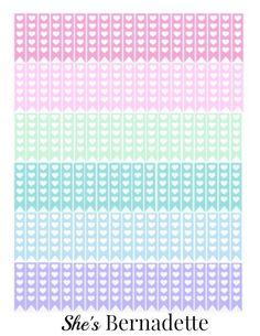 Free Printable Cosmic Bubblegum Heart Planner Stickers at ShesBernadette.net