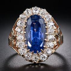 Natural Ceylon Sapphire Antique Ring