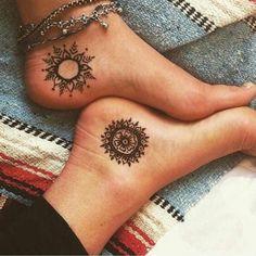 #Tatoo #tatuaje #solluna #mandala #pies