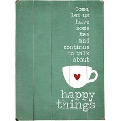 Wandkunst 'Happy Things'