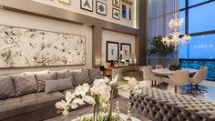 Apartamento com decoração contemporânea e clássica e salas integradas maravilhosas! - Decor Salteado - Blog de Decoração e Arquitetura