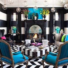 Inside Kourtney Kardashian's House - I may not care for the Kardashian's as people, but this is a gorgeous design! Reminds me of Alice in Wonderland for some reason. I love the blue!