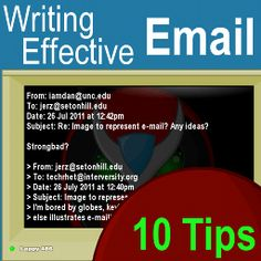 Email Tips: Top 10 Strategies for Writing Effective Email | Jerz's Literacy Weblog