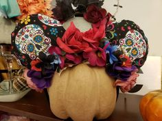 Coco Disney inspired Day of the dead not scary Halloween ears. by EARtasticFinds on Etsy . Disney Halloween Ears, Disney Ears, Scary Halloween, Disney Inspired, Etsy Seller, Creative, Inspiration, Biblical Inspiration, Spooky Halloween