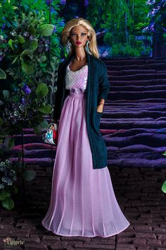 ELENPRIV green suede cardigan for Fashion royalty FR2 NuFace Barbie and similar body size dolls by elenpriv on Etsy