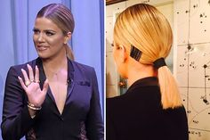 When you have a bob like Khloé Kardashian's, the struggle can be very real when it comes to finding innovative styling methods. But last night for her appearance on The Tonight Show, Kardashian wore a sleek, low ponytail—with an...