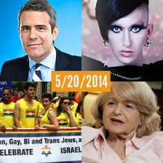 Here're the top LGBT/Jewish stories today: Andy Cohen says he always knew he was gay *** Drag artist Nona Chalant stars in the promo for the Tel Aviv International LGBT Film Festival *** Getting ready to support Israel in NYC on June 1st *** Edie Windsor to serve as grand marshal of the 24th annual Long Island gay pride parade ***  Browse through all of today stories at: http://awiderbridge.org/category/news/