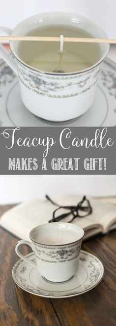 Thrift Store Teacup Candle | Makes a great gift | Mother's Day Gift Idea
