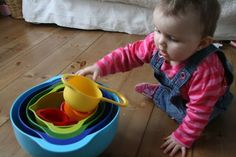 Here is a collection of baby play ideas and activities for 6 to 18 month olds to inspire curiosity, problem solving and good old fashioned play times.