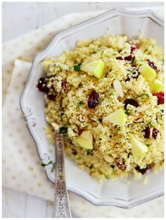 Couscous with apples and cranberries