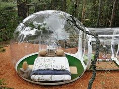Tired of camping under the night sky in a tent? Perhaps, you need to spend some time in this Bubble Hotel for a brand-new camping experience. Tent Camping, Outdoor Camping, Camping Trailers, Camping Room, Camping Storage, Backpacking Tent, Camping Cabins, Campsite, Bubble Tent