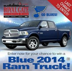 Win a $36540 2014 Ram 1500 Quad Cab 4×4 from Royal Gate Dodge