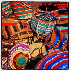 Plastic woven baskets....Must haves from the markets of Nairobi