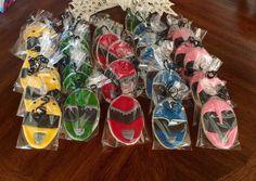 Power Ranger Cookies - Power Ranger favors - Power Ranger Birthday Party - Power…