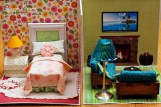 Second Chances by Susan: Collapsible Dollhouse -  so cute!