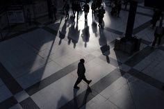 """osiowy: """" London's Shadows https://www.instagram.com/pixowy (w: London Liverpool Street Station)"""""""