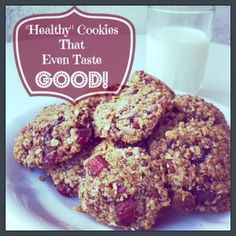 Healthy Cookies That Even Taste Good! - http://LivingNaturaler.com/healthy-cookies-that-even-taste-good/